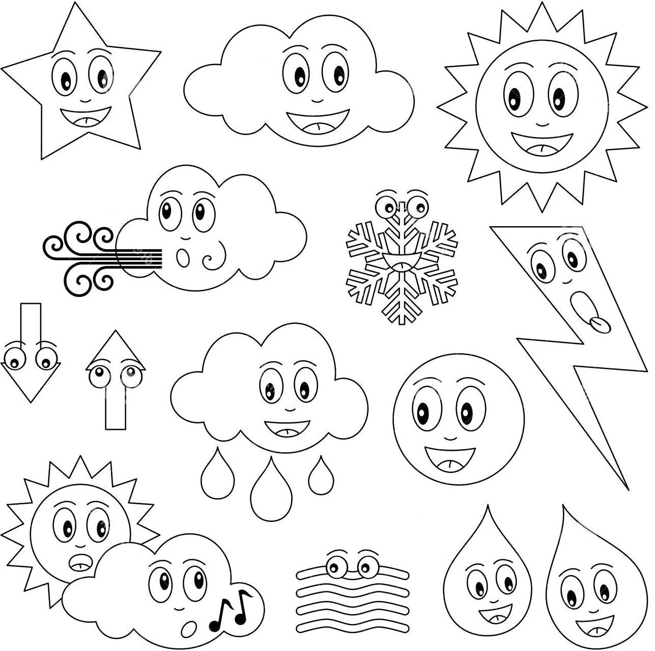 1287x1278 The Dismal State Of Weather Coloring Page For Kids