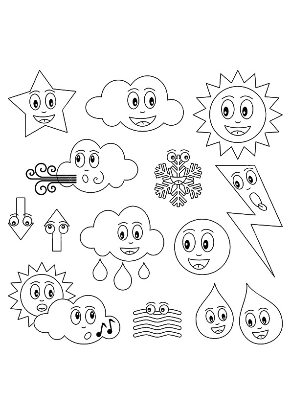 595x842 Weather Coloring Pages For Kids