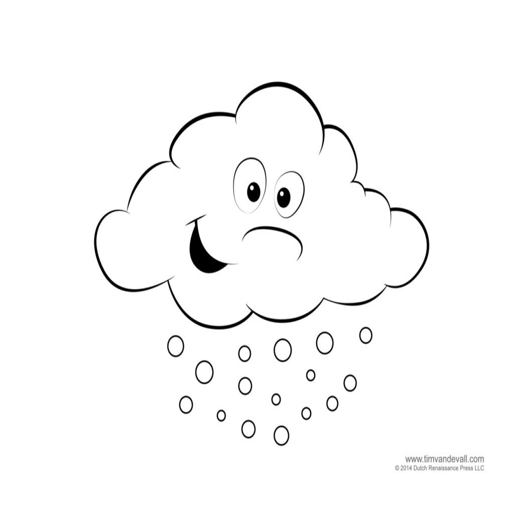 Weather Coloring Pages For Preschool