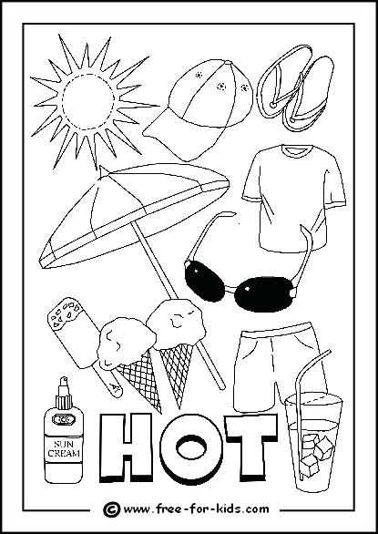 415x586 Weather Coloring Pages For Preschool Image Of Hot Day Colouring