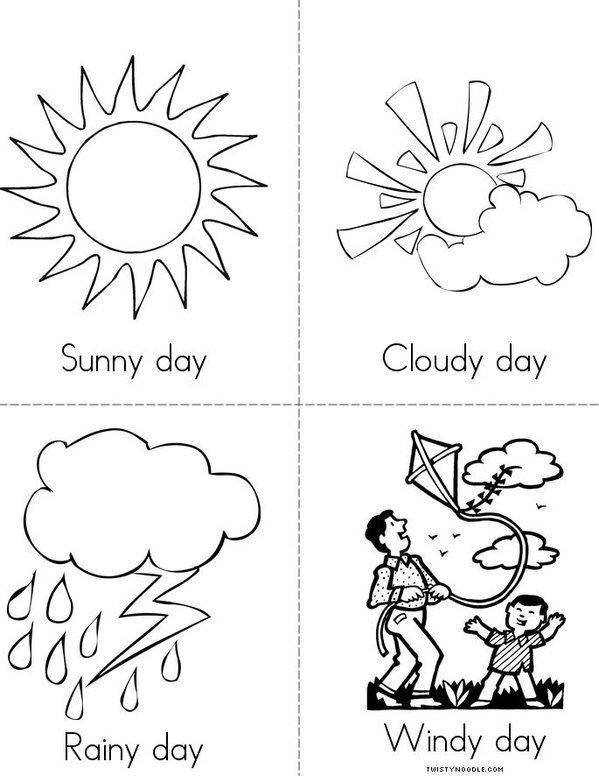 599x776 Weather Color Page Classroom Color Pages Weather