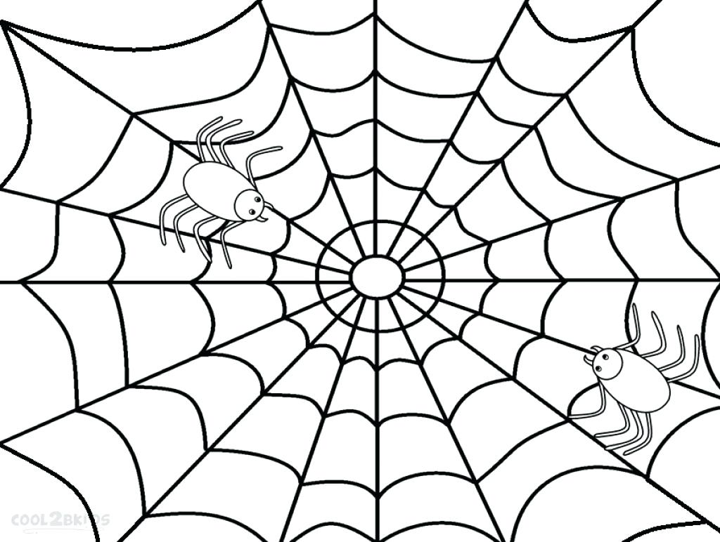 1024x772 Spider Printable Web Coloring Pages And Page