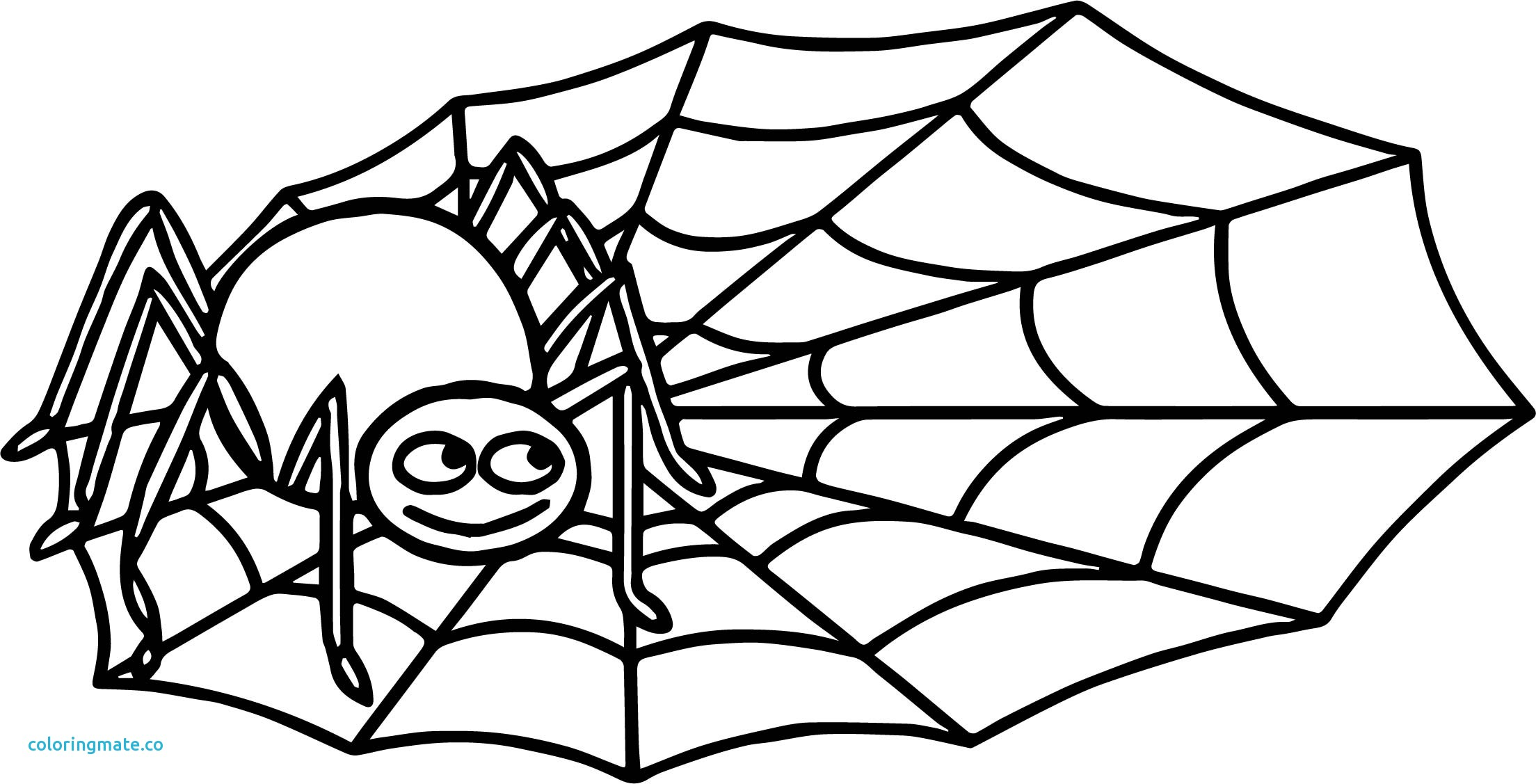 2208x1127 Spider Web Coloring Page Lovely Halloween Cute Play Free Online
