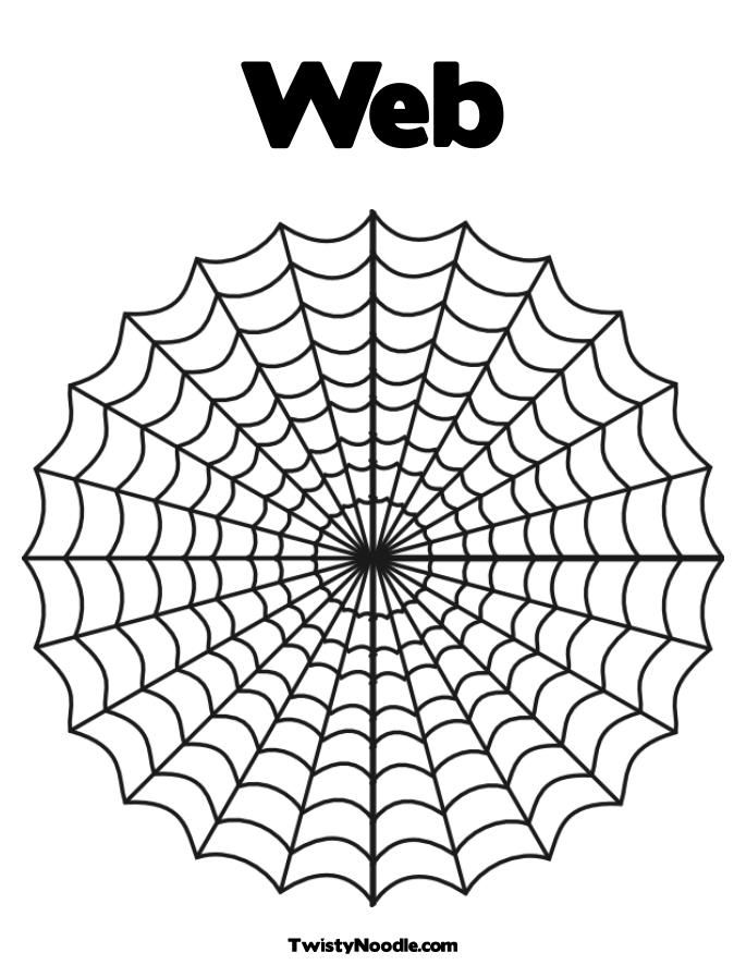 685x886 Spider Web Coloring Pages