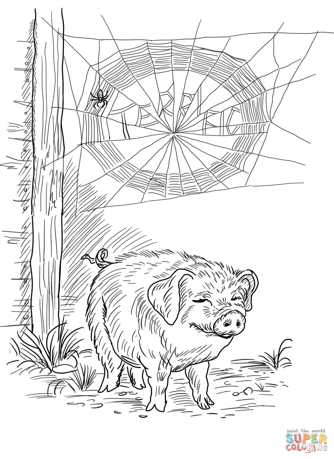 1163x1600 Useful Charlotte S Web Coloring Pages Page Fre