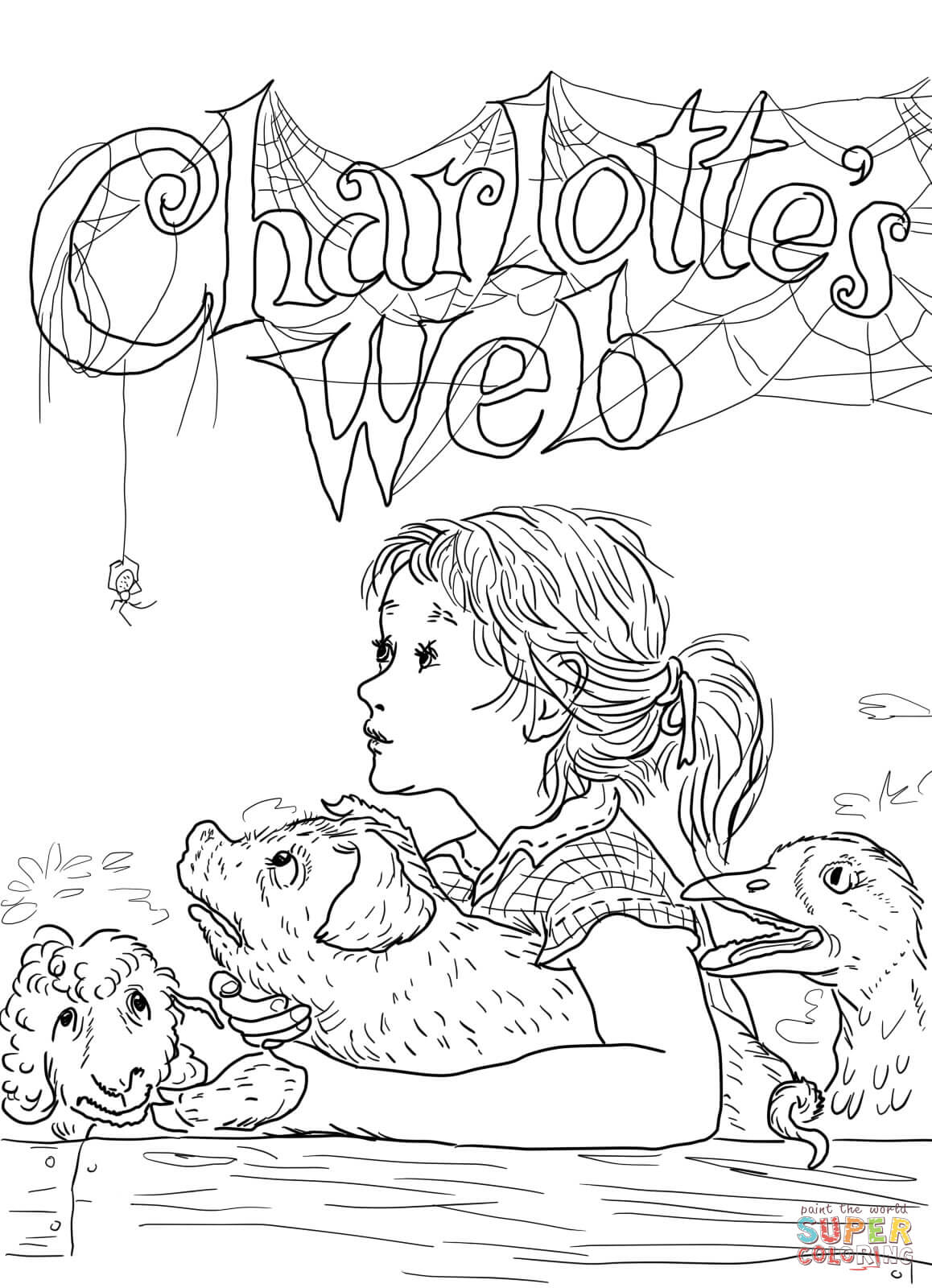 1158x1600 Hurry Charlotte S Web Coloring Pages Page Free Printable