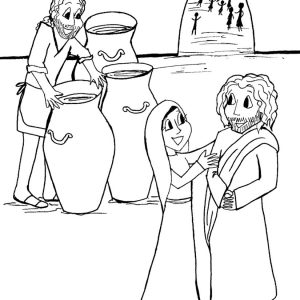 300x300 Coloring Page For Wedding At Cana Archives