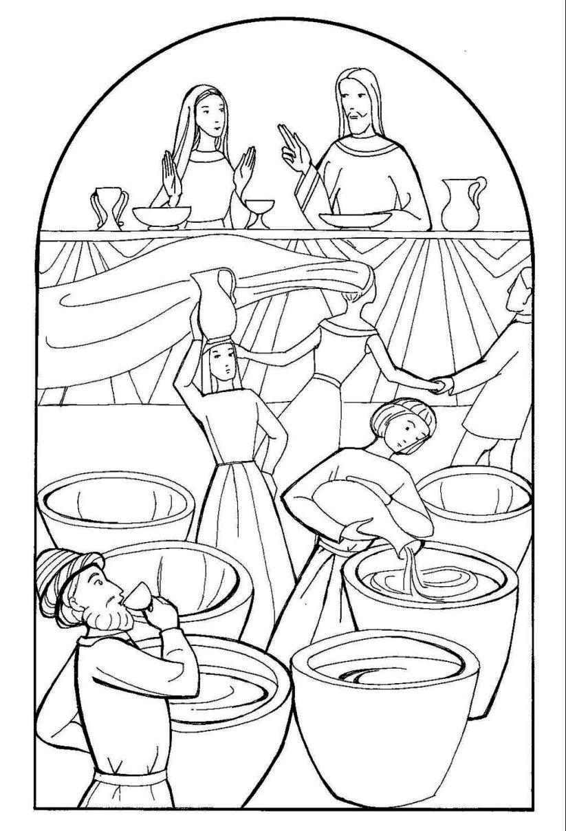 Wedding At Cana Coloring Page at GetDrawings | Free download