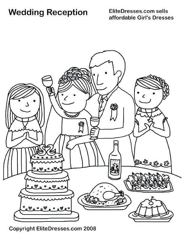 612x792 Wedding At Cana Coloring Page Wedding S Coloring Page Image