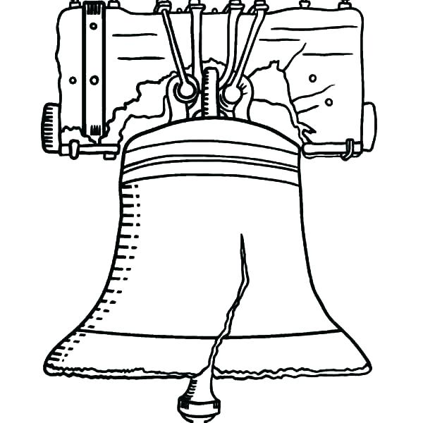 600x600 Liberty Bell Coloring Page Bell Coloring Page Cheap Liberty Bell