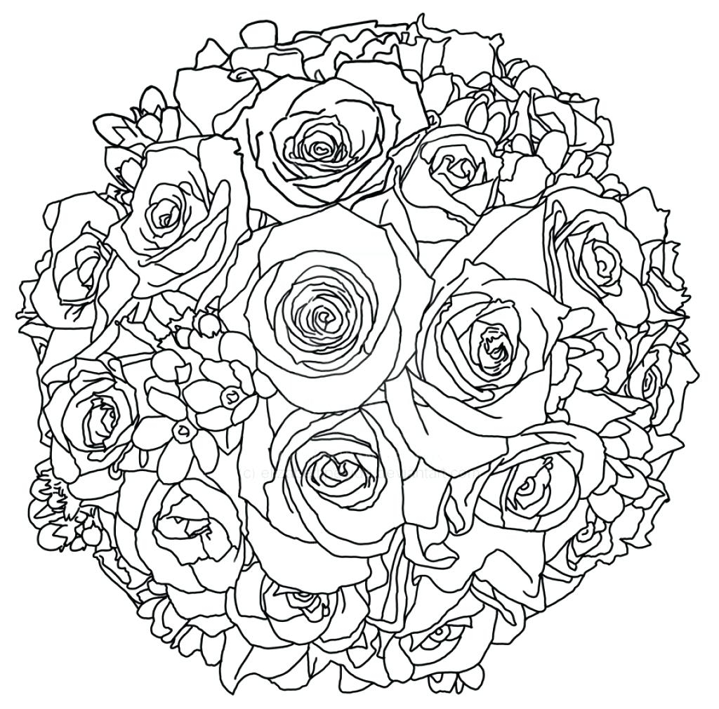 Wedding Bouquet Coloring Pages At Getdrawings Com Free For