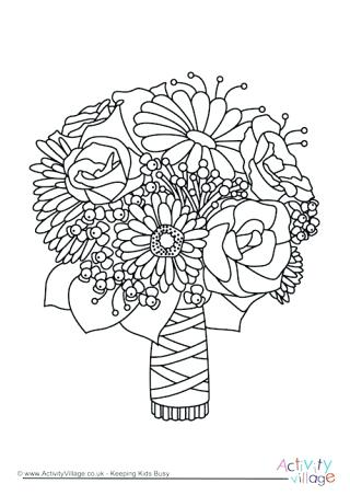 320x452 Wedding Coloring Page Wedding Bouquet Colouring Page Wedding