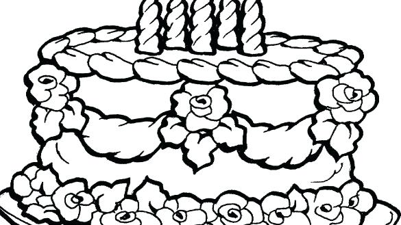 585x329 Cake Coloring Pictures Cupcake Coloring Pages Cake Coloring Page