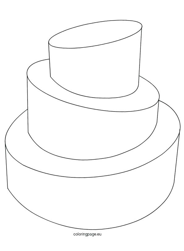 595x808 Coloring Page Cake Simple Wedding Cake Coloring Pages Coloring