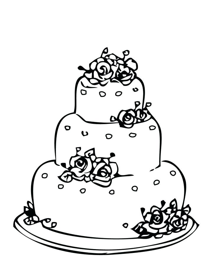 728x942 Free Printable Wedding Cake Coloring Pages Best Of Page