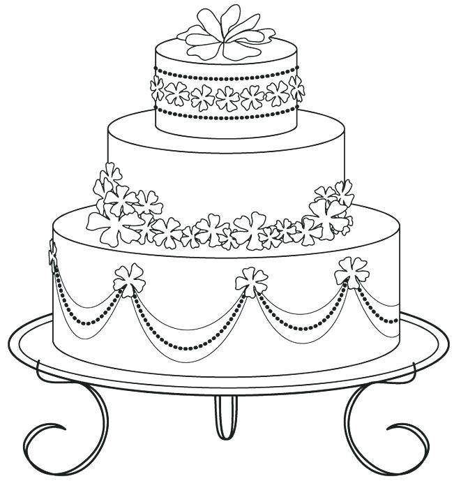 671x699 Luxury Coloring Pages For Weddings And Wedding Cake Coloring Pages
