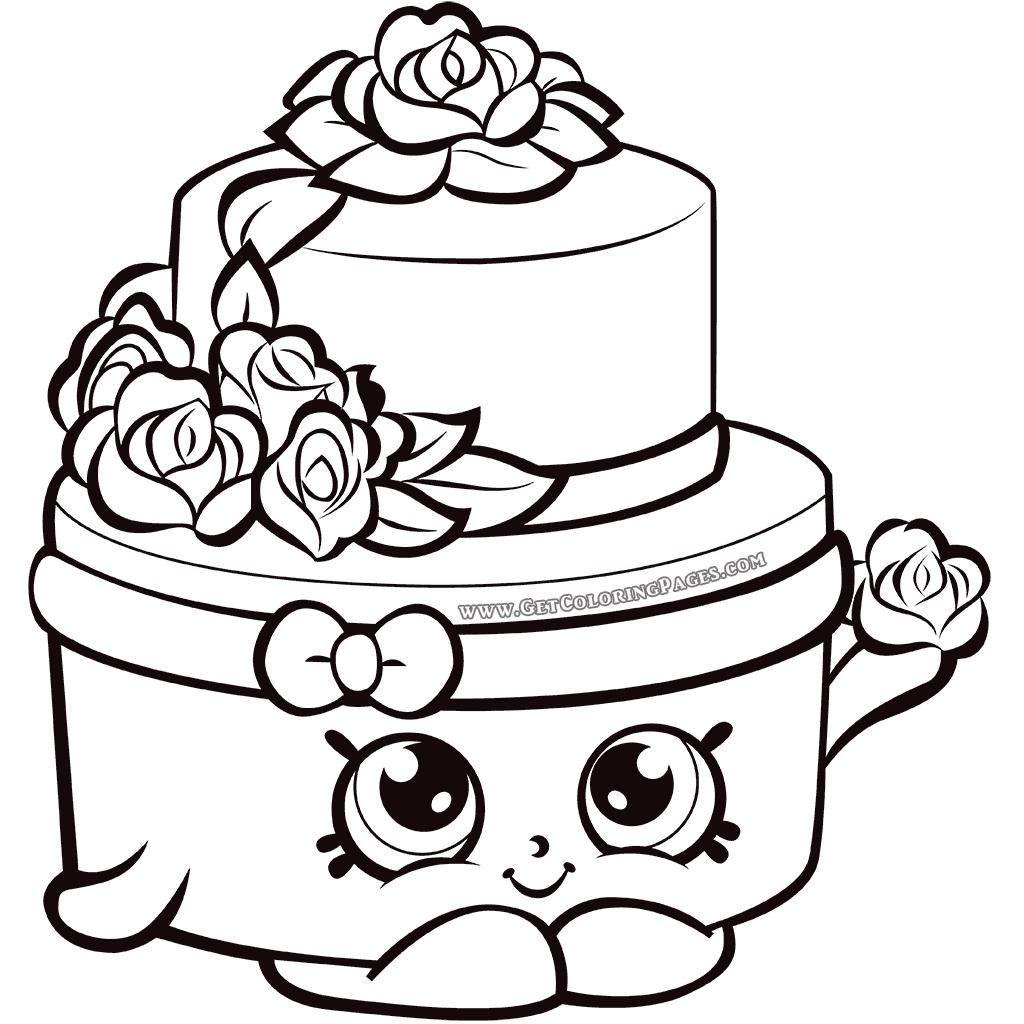 1024x1024 Shopkins Wedding Cake Coloring