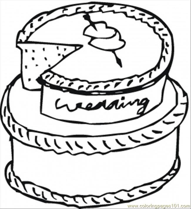 650x710 Wedding Cake Coloring Page