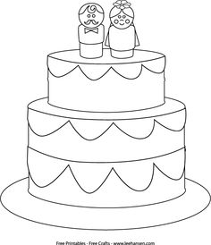 236x274 Wedding Cake Coloring Page A Kid's Activity Book