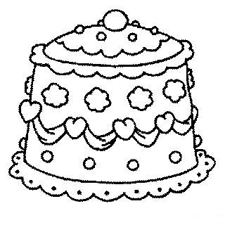 320x330 Wedding Cake Coloring Pages Coloring Pages