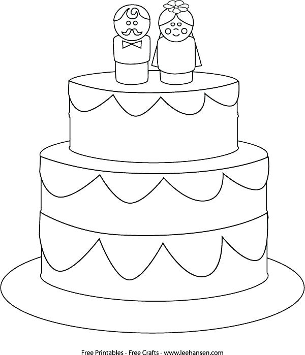 600x699 Wedding Coloring Page Wedding Cake Coloring Page Printable Pencil