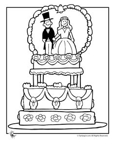 236x305 Wedding Coloring Pages Wedding Cake Coloring Page Fantasy Jr