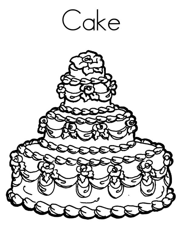 600x776 Beuatiful Wedding Cake Coloring Pages Best Place To Color