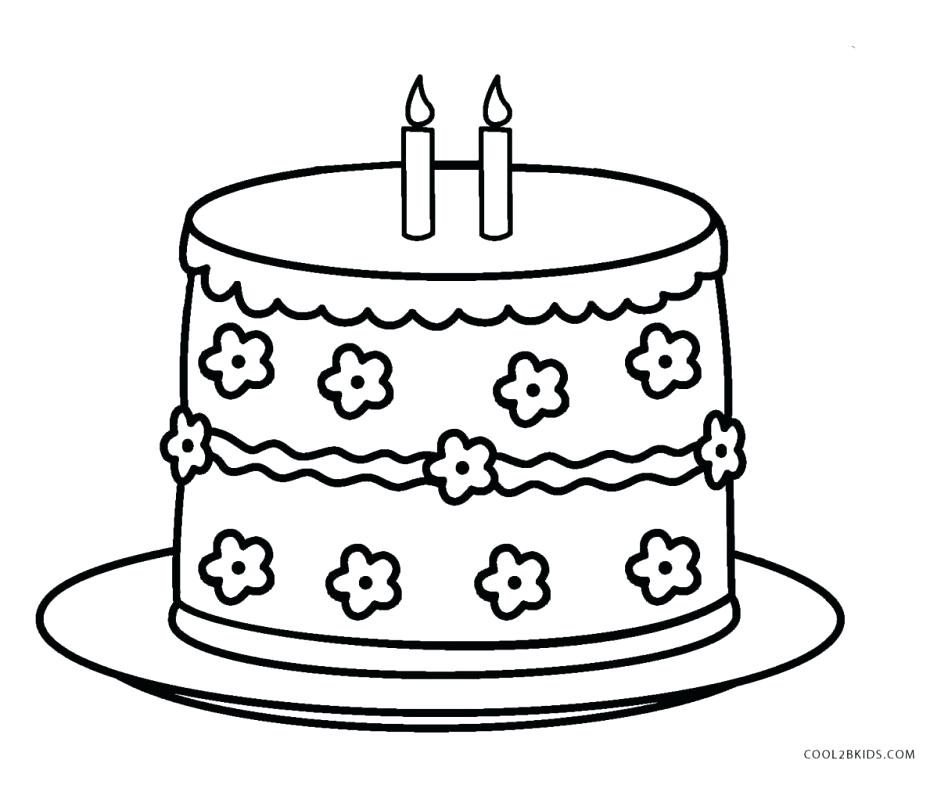 948x785 Cake Coloring Pages Large Size Of Cake Coloring Pages