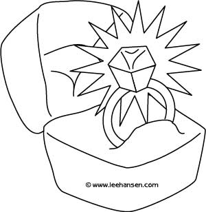 300x308 Printable Wedding Coloring Pages And Activity Sheets