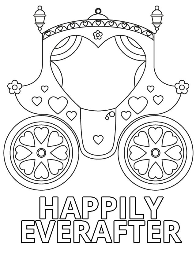 640x828 Wedding Coloring Pages For Kids Who Love To Dream About Their