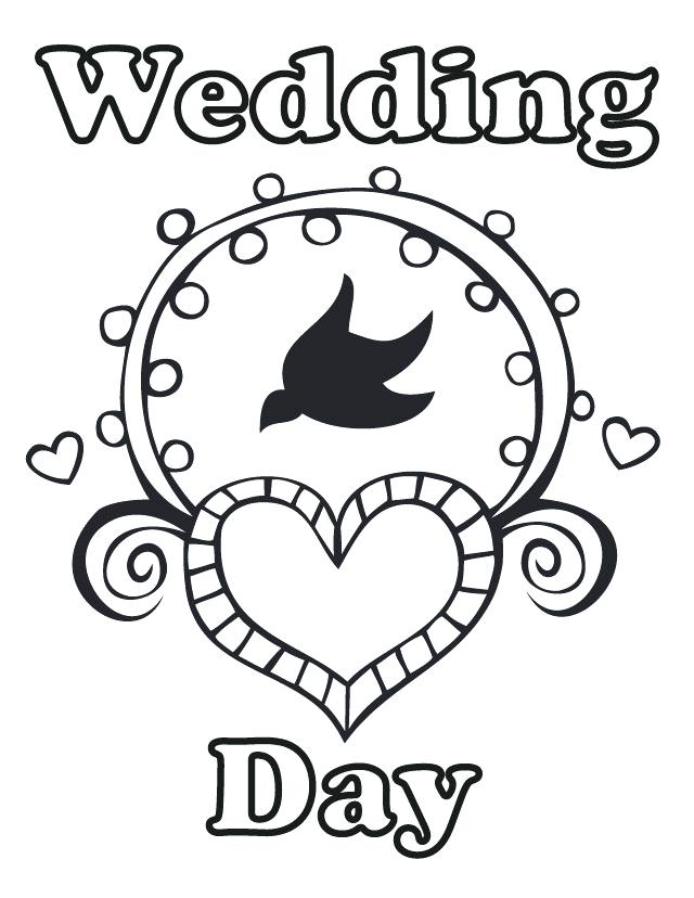 640x828 Wedding Coloring Books Wedding Coloring Pages Free Download