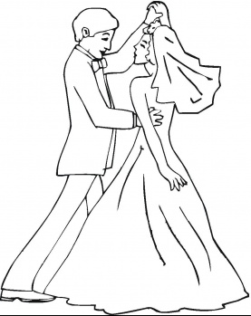 277x349 Wedding Coloring Pages
