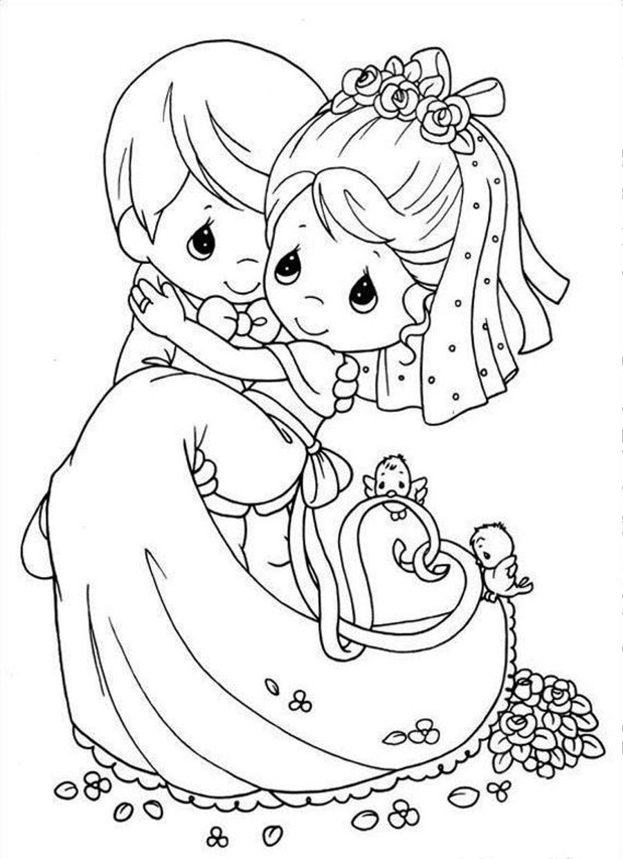 900x1240 Wedding Coloring Pages To Print Wedding Coloring Page