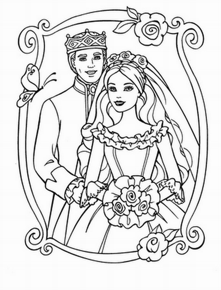 705x924 Printable Free Wedding Coloring Pages To Print