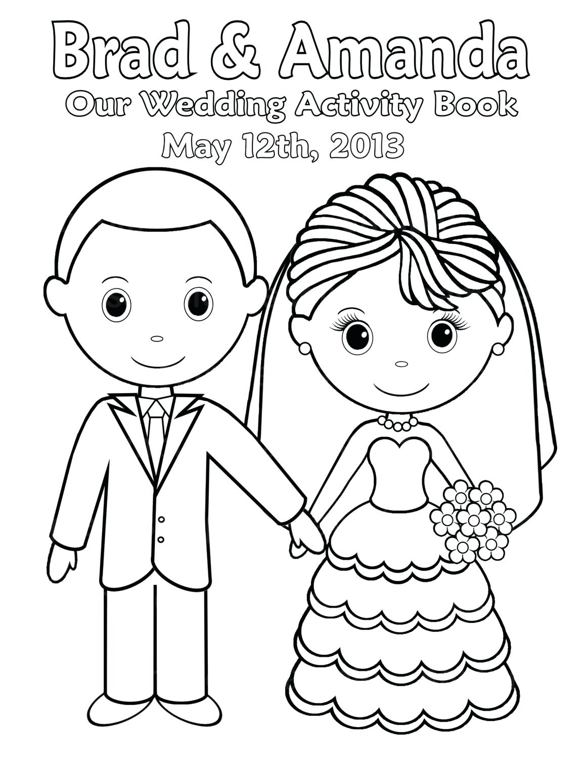 1159x1500 Wedding Couple Coloring Pages For On Free Printable