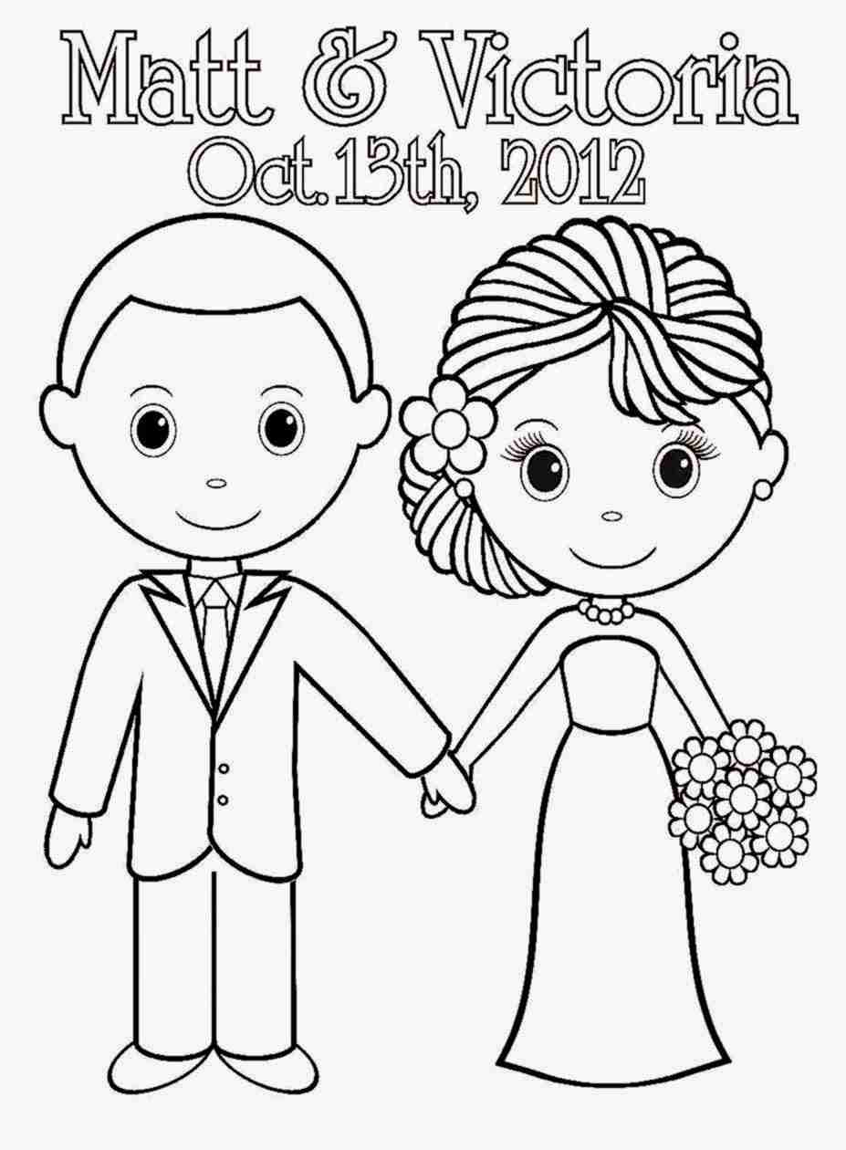 927x1260 Wedding Couple Coloring Pages Wecoloringpage Stunning Page Olegratiy
