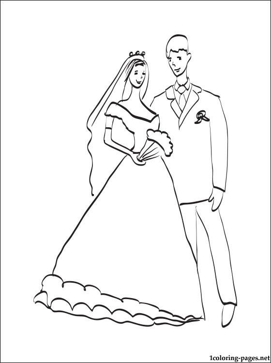 560x750 Wedding Couple Coloring Page Coloring Pages