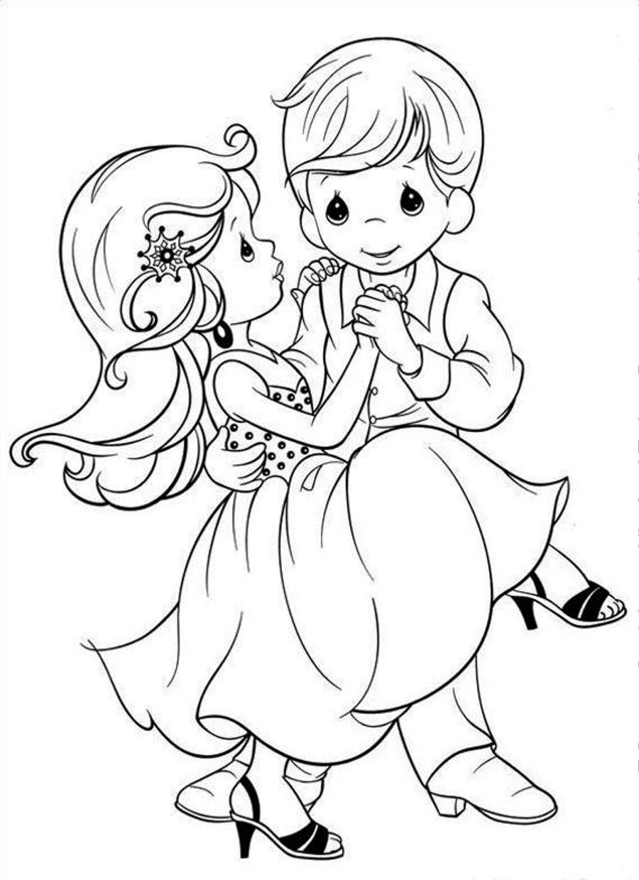 900x1240 Cute Precious Moments Coloring Pages Wedding Colouring