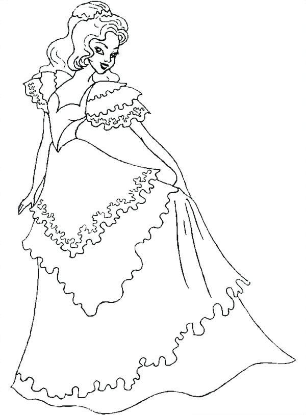 600x814 Dress Coloring Page Beautiful Ladies Wear Wedding Dress Coloring
