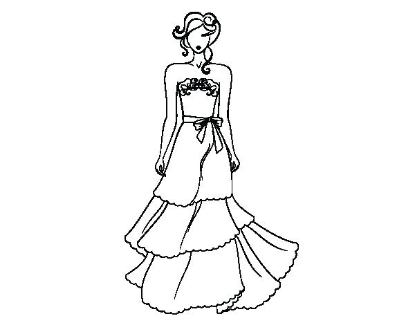 600x470 Dress Coloring Page Wedding Dresses Coloring Pages Wedding Dress