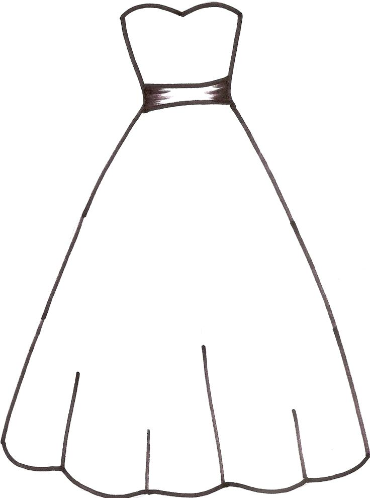 736x990 Dress Coloring Pages Fresh Dress Coloring Pages For Kids Coloring