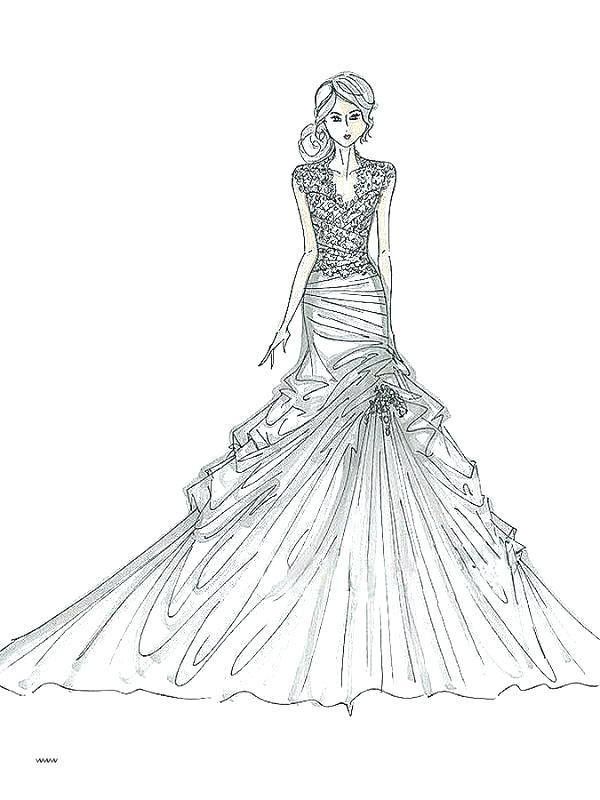 600x800 Wedding Dress Coloring Pages Wedding Dress Coloring Pages Coloring