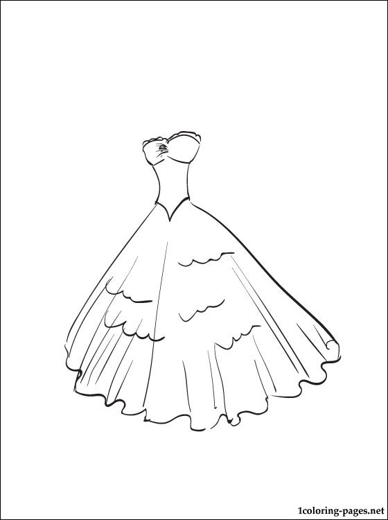 Wedding Dress Coloring Pages Printable At Getdrawings Com