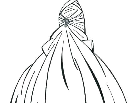 440x330 Wedding Dress Coloring Pages Printable Wedding Dress Coloring