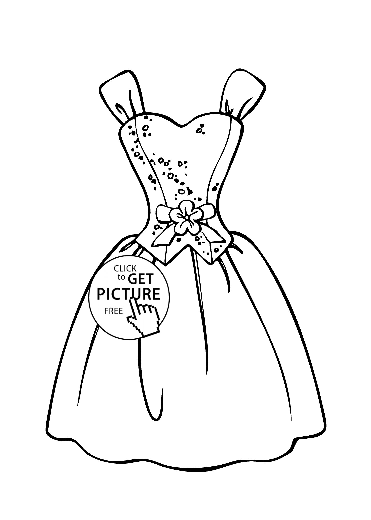wedding dress coloring pages printable 4