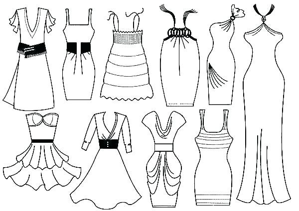 Wedding Dress Coloring Pages Printable at GetDrawings.com ...
