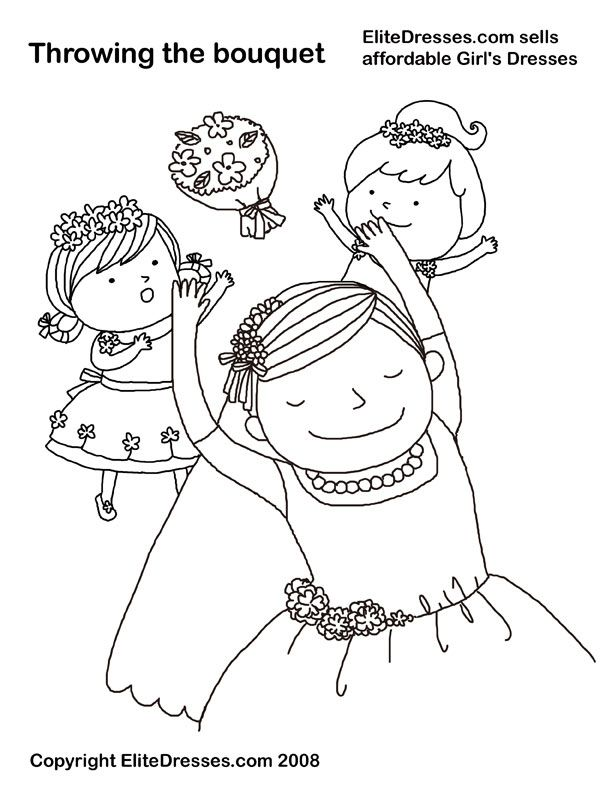 612x792 Best Free Wedding Coloring Pages From Elite Dresses!!! Images