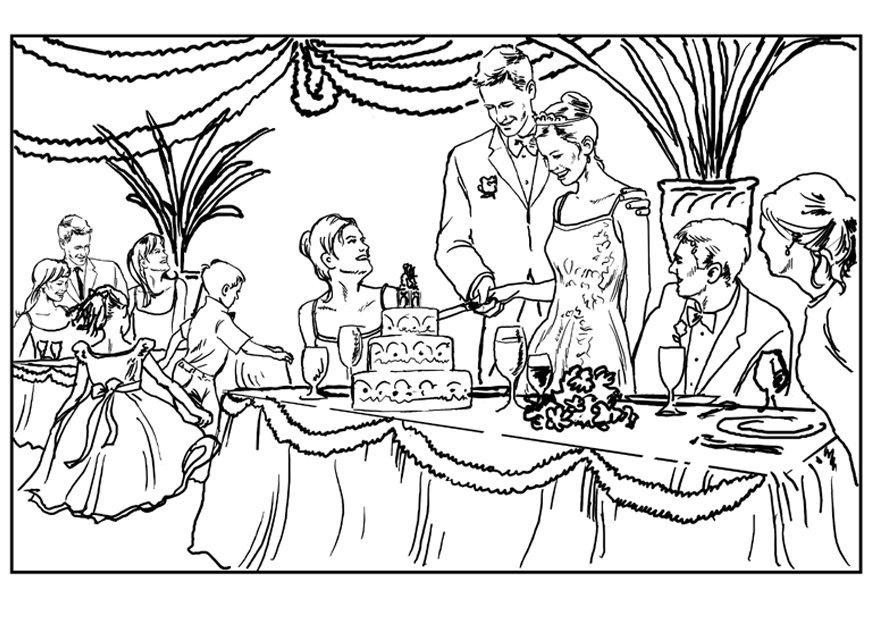 875x620 Lovetta's Blog Wedding Reception Coloring Page The Reception That