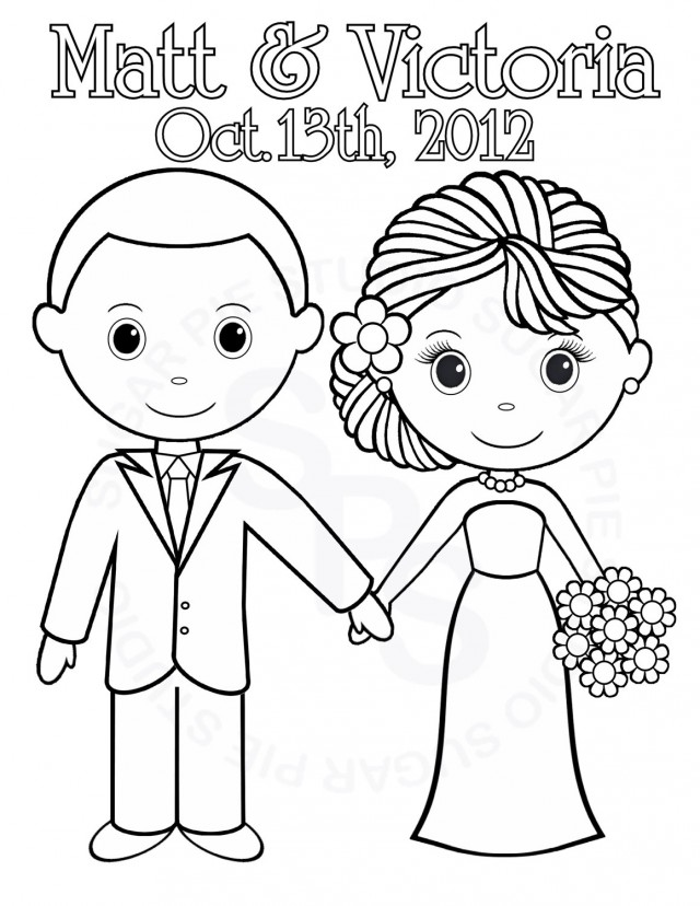640x828 Printable Wedding Coloring Pages For Kids