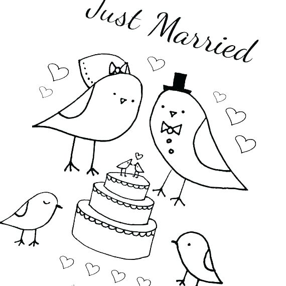 570x570 Wedding Coloring Pages Free Wedding Party Coloring Page Wedding